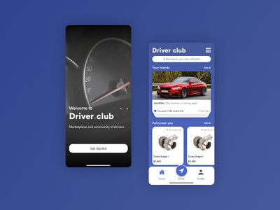 Driver Club and Community dailyui branding indonesian indonesia designer inspiration blue car design ui design ux design uxui uiux ux ui indonesia dribbble indonesia dribbble