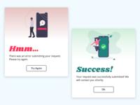 Daily UI 011 - Error & Success Message