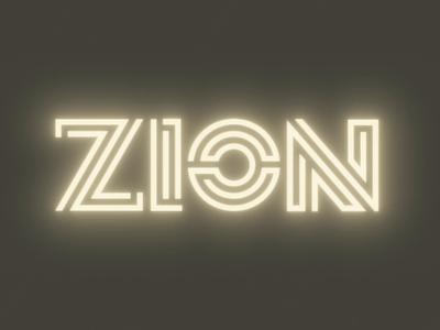ZION Restaurant after effects neon glow restaurant food animation illustrator illustration branding logo