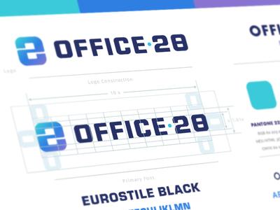 Office 28 Logo business office 28 logomark branding brand icon app symbol mark logo