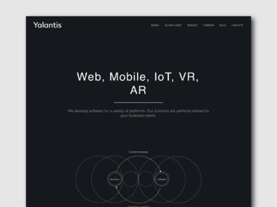 Landing page for Mobile App Development Technologies