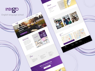 Indigo . Web design