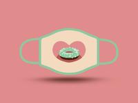 Stay safe and tasty! stay safe vector art challenge smile donut dpi mask design illustration vector
