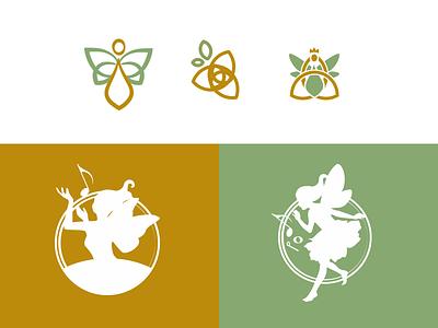 Fairy logo study 2 digital art triskele silhouette triquetra celtic fairytales fairy music artist musician vector illustration fantasy branding logo