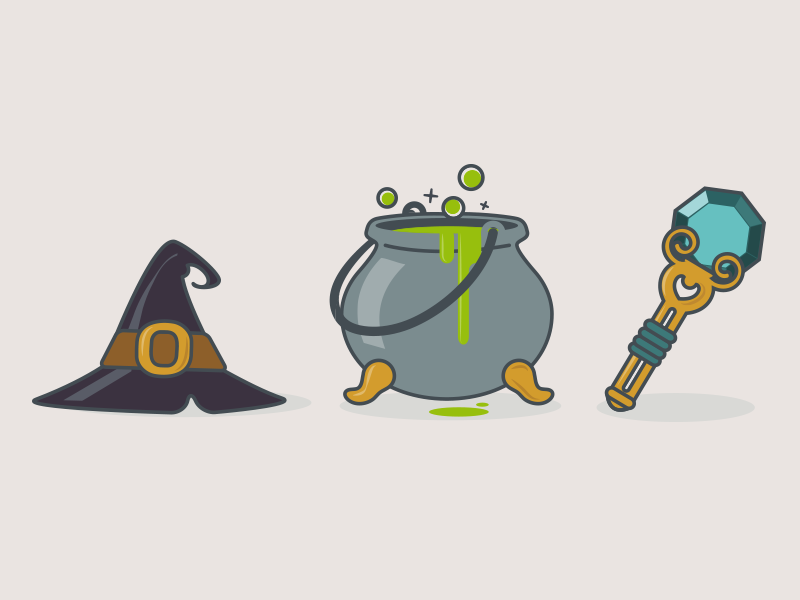 Fantasy Icon Set 6 By Aramisdream Dribbble Dribbble