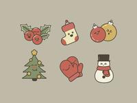 Funny Christmas icons