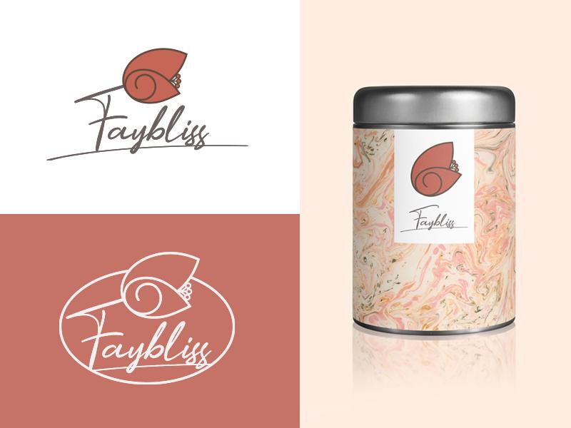 Faybliss final logotype logo 2d handmade fairy flower logo artisans brand identity logo logo design