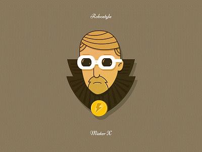 Mister X caracter vector pixel png glasses illustration head man