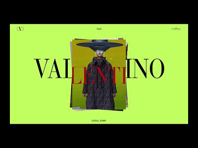 VALENTINO design animation web app ux ui