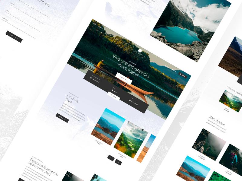 Perú Atractivo | Travel Agency sayrin ux ui peru diseño chile diseño web agencia de viajes travel agency