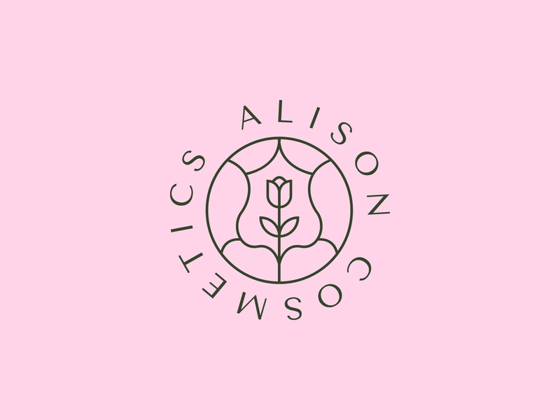 Alison Cosmetics logo logotype brand identity graphic design logo design logodesign brand design logo