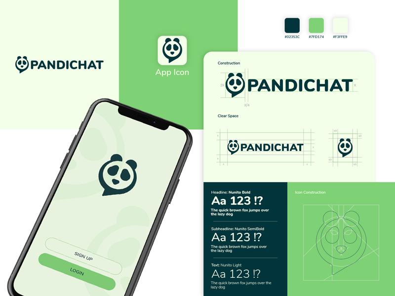Pandichat Logo logo design dribbble graphic design design branding brand identity logotype logodesign logo brand design