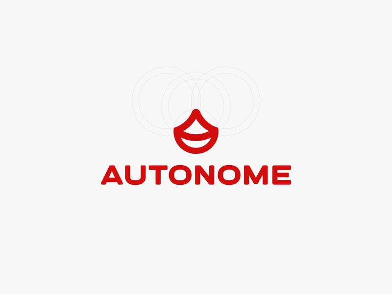 Autonome Logo graphic designer logo designer symbol design symbol design dribbble logotype grid logo branding brand identity visual identity icon design icon logo design graphic design logodesign logo