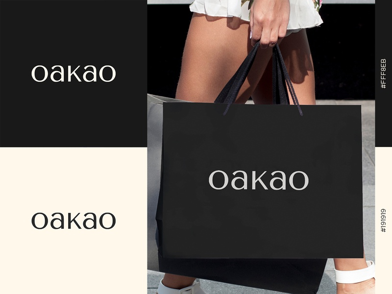 OAKAO Logo graphicdesign fashionlogo dribbble logodesign brand identity branding visual identity graphic design logotype logomark wordmark logo design