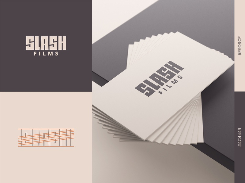 Slash Films Logo graphicdesign logodesign logo construction wordmark brand design dribbble visual identity brand identity branding logotype logomark graphic design logo design logo