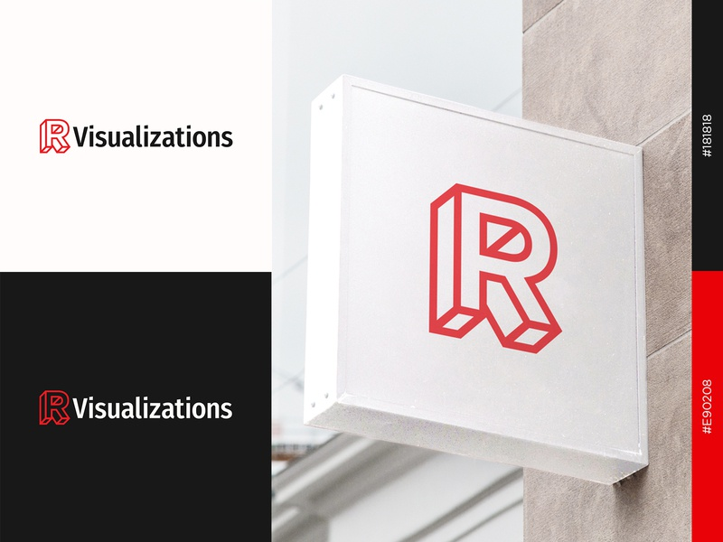 R Visualizations Logo symbol design brand design graphicdesign logomark logos logodesign graphic design visual identity brand identity branding dribbble logocore icon icon design logo mark logotype logo design