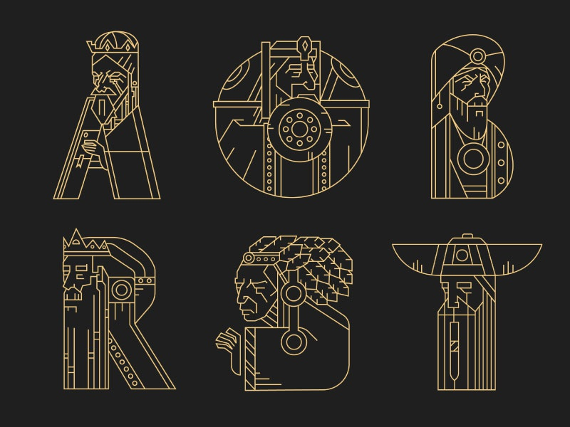 Rulers (letters) gold vector lettering typography letters 36daysoftype crown viking kings king rulers