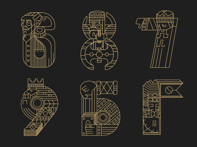 Rulers (letters) 4 viking typography rulers letters lettering kings king crown 36daysoftype