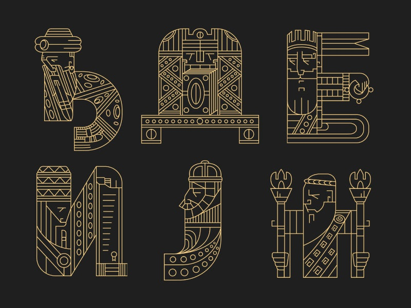 Rulers (letters) 5 viking typography rulers letters lettering kings king crown 36daysoftype