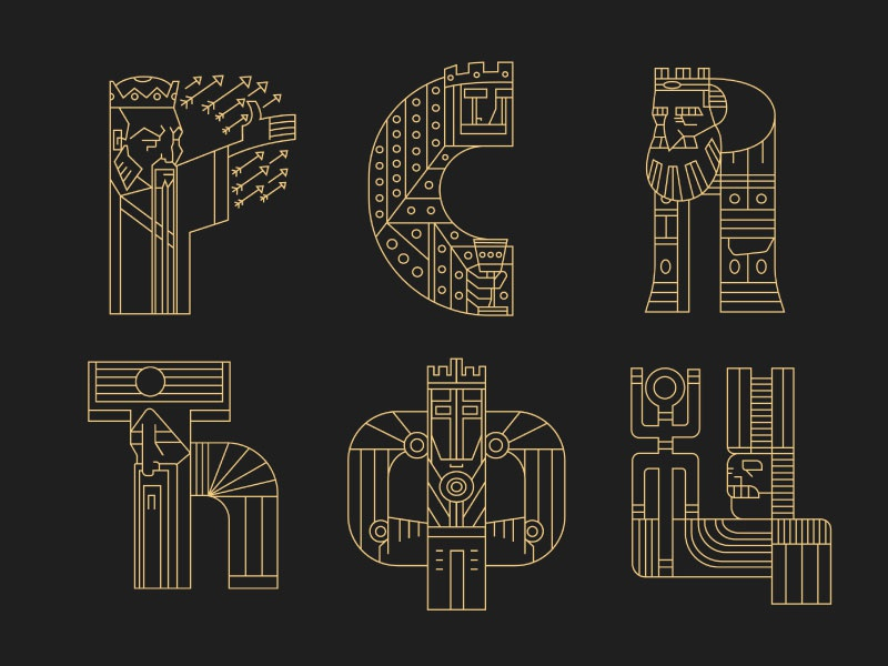 Rulers (letters) 7 viking typography rulers letters lettering kings king crown 36daysoftype
