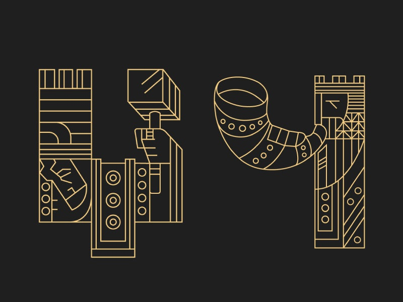 Rulers (letters) 8 viking typography rulers letters lettering kings king crown 36daysoftype