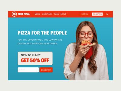 Zume Pizza Landing Page