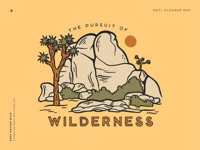 Pursuit of Wilderness mountains landscape forest yellow outdoors nature illustration wild nature illustration wilderness national park joshua tree