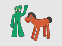 Gumby & Pokey Throwback