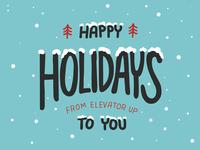 Happy Holidays Illustration