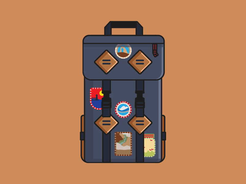 Topo Pack Illustration backpack hike hiking colorado wander explore travel graphicdesign illustration illustrator vector designer design topo pack topo designs topo