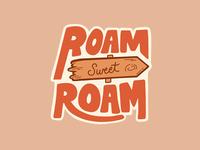 Roam Sweet Roam Sticker