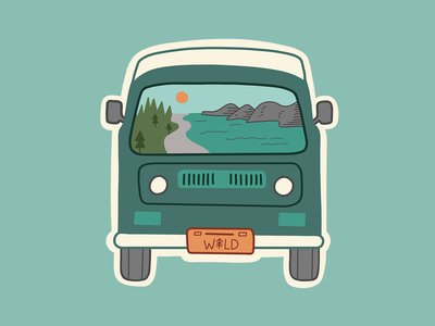 Wild Ride Van Sticker