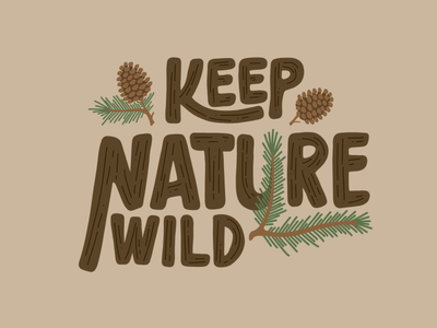Keep Nature Wild Pinecone