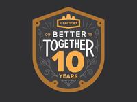 Anniversary Badge, 10-Years