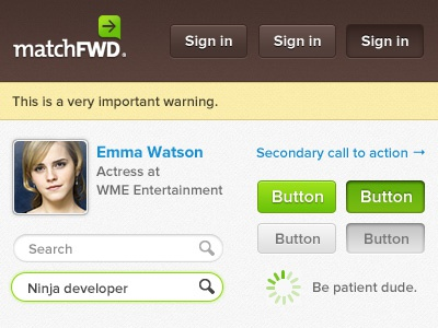 MatchFWD UI Sample