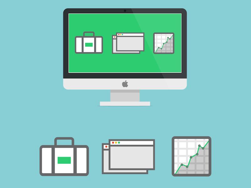 Sales Site Designs - Flatdoc mac sales startup productivity writing content document flatdoc creation flat ui icon
