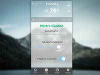 Garden App Home Screen