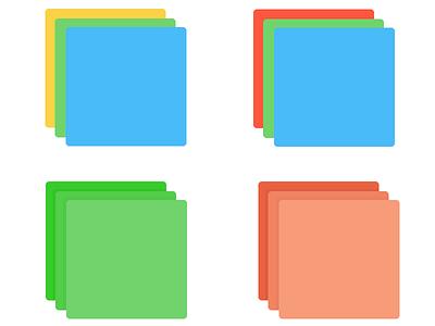 Color Palette/Icon Design  palette icon flat stack files share broadcast beacon color bright