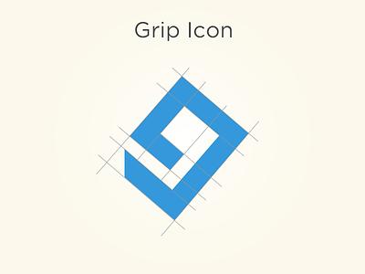 Grip Icon V1 (with line work) grip icon app symmetrical blue lines logo branding