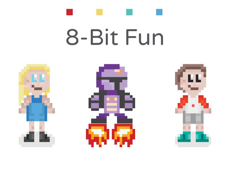 8-Bit Fun 8-bit 8 bit 8bit fun characters nintendo animation pixel pixels robot character