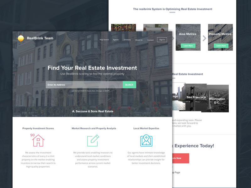 RealBrink Real Estate Site flat city home housing real estate responsive