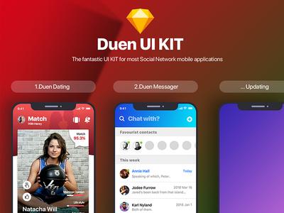 Duen UI KIT - Social Network