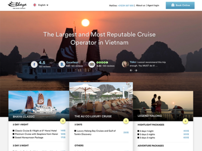 Bhaya Cruise - Cruise/travel booking website