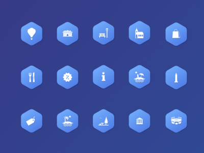 Package icons of places