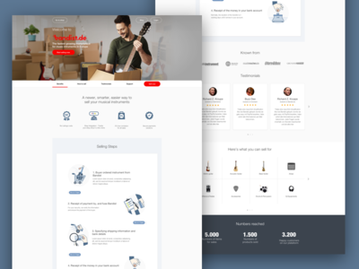 Landing Page for Sell Musical Instruments Platform