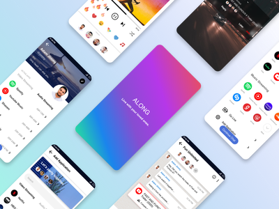 Designed an app, Along, to let people watch and listen together. ux desgin uidesign blog case study design study invisionapp invisionstudio sketch app design ui ui  ux design