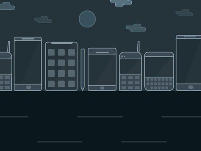 World of phones - an illustration digital illustration design illustrations illustration phones app ui design ui  ux design
