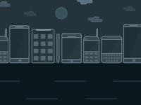 World of phones - an illustration