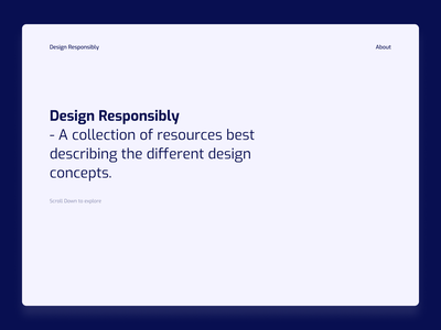 Design Responsibly - A website for young aspiring designers. web app web design website design website sideproject webdesign web ui ui  ux design design