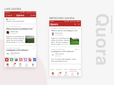 Quora UI/UX Improvement, just a personal project.